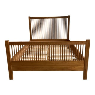 Queen Size John Kelly J1 Series J-18 Spindle Cherry Bed Frame For Sale