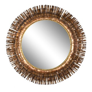 Curtis Jere Copper Eyelash Mirror For Sale