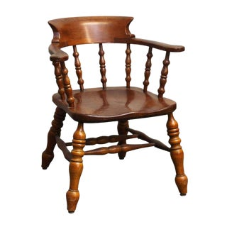 Vintage L. & J. G. Stickley Cherry Captains Chair For Sale