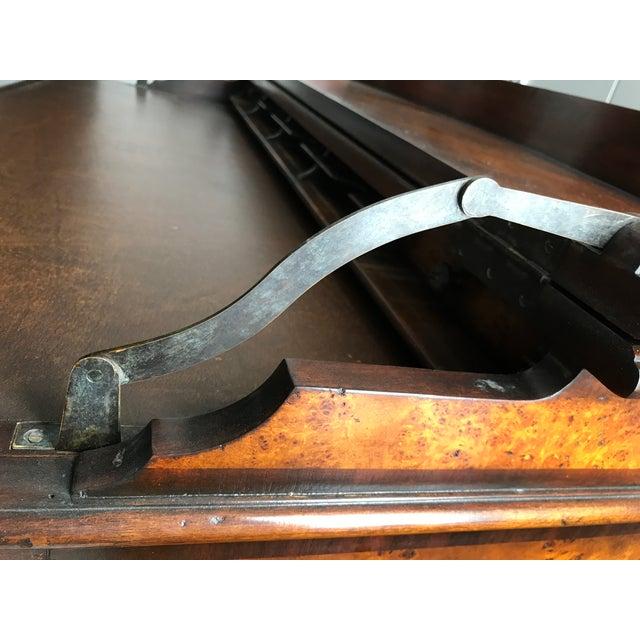 Burled Wood Lift Top Secretary Desk - Image 4 of 10