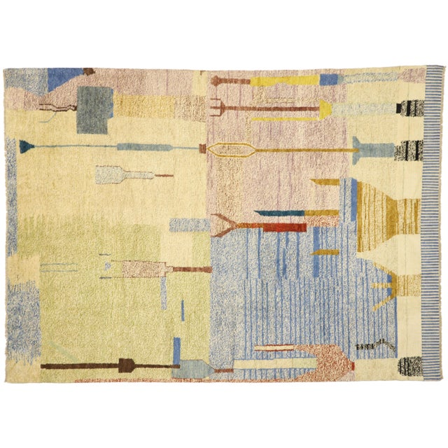 Moroccan Contemporary Rug - 10'00 X 13'10 For Sale - Image 9 of 10