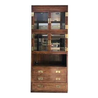 1970s Henredon Scene One Campaign Cabinet For Sale