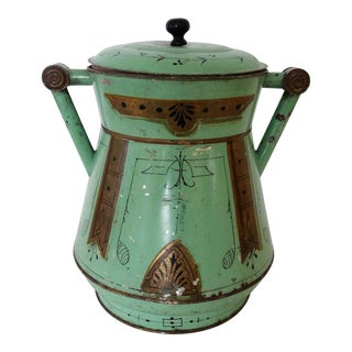 Late 19th Century Antique Toleware Container For Sale