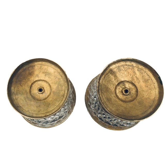 1940s 1940s Baccarat Dore Bronze Candleholders- a Pair For Sale - Image 5 of 6