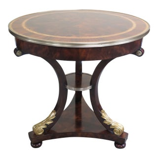 Traditional Theodore Alexander Althorp Round Mahogany Occasional Table For Sale