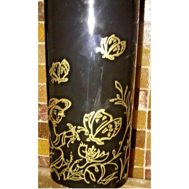 """1980s Edna Hibel Rosenthal """"Festival Annual"""" Golden Vase For Sale - Image 5 of 13"""