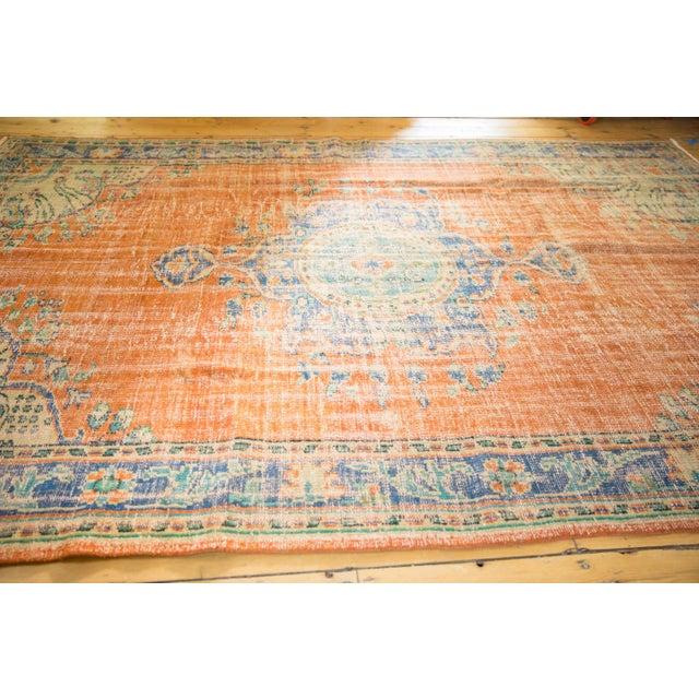 "Textile Vintage Distressed Oushak Carpet - 6'8"" X 9'6"" For Sale - Image 7 of 9"