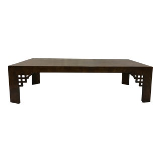 Tomlinson Burl Coffee Table For Sale