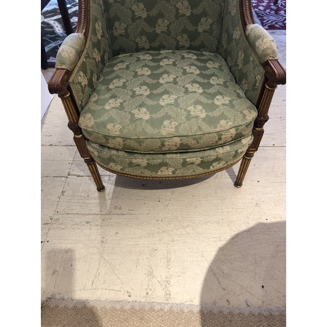 Wood Ladies French Bergère Armchair For Sale - Image 7 of 13