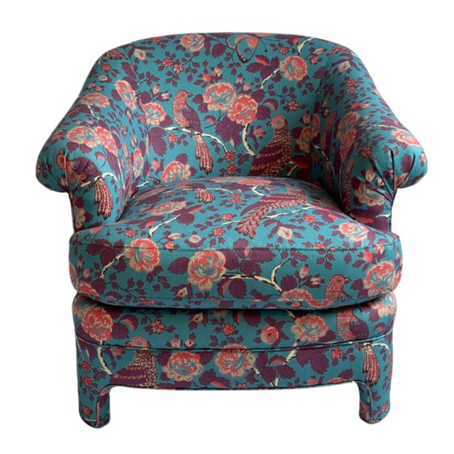"""Sasha Accent Chair in Schuyler Samperton's """"Caledonia"""" For Sale - Image 4 of 4"""
