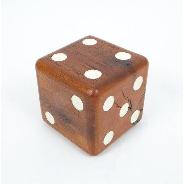 Large Solid Wooden Dice, circa 1950 For Sale - Image 6 of 6