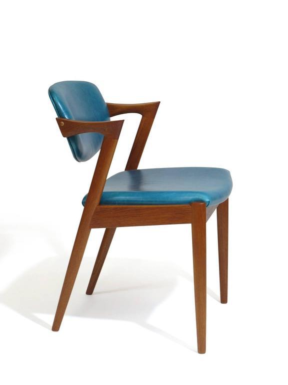 Animal Skin Six Kai Kristiansen Teak Danish Dining Chairs in Turquoise Leather 20 Available For  sc 1 st  Decaso & Lovely Six Kai Kristiansen Teak Danish Dining Chairs in Turquoise ...