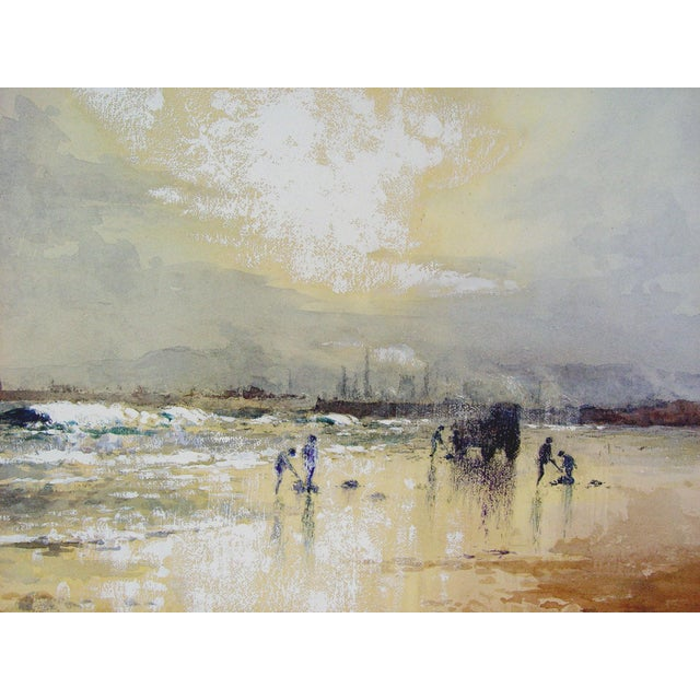 Impressionism Robert Howey Sunrise Clam Digging Watercolor For Sale - Image 3 of 4
