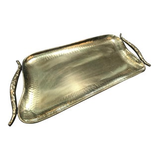 Italian Full Hammered Brass Tray
