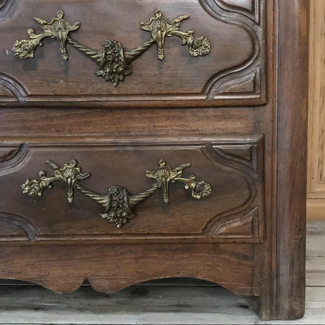 19th Century French Louis XIV Walnut Commode For Sale - Image 10 of 13