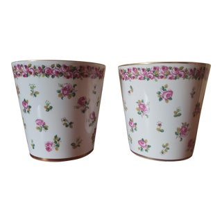 Early 20th Century Porcelain Spill Vases - a Pair For Sale