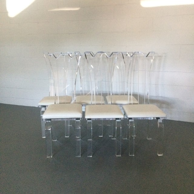 Lucite Dining Chairs - Set of 6 - Image 5 of 8