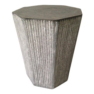 Cerused Octagonal Accent Table For Sale