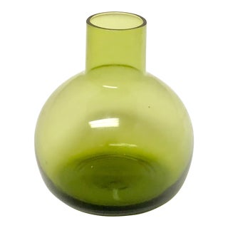 Green Glass Vessel For Sale
