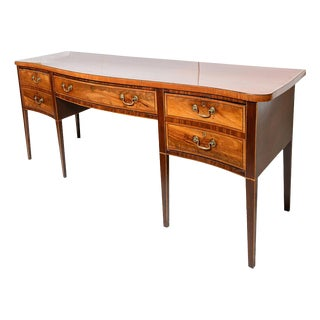 Antique English Mahogany Sideboard- George III For Sale