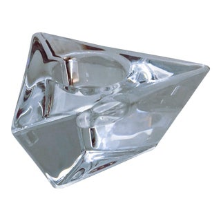 Orrefors Triangle Votive Martti Rytkönen Crystal Candleholder For Sale