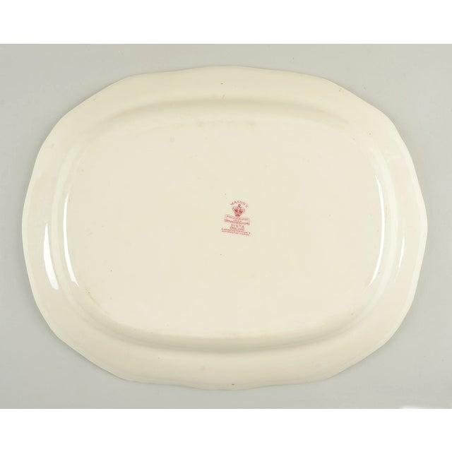 "Mason's Vista Pink 19"" Oval Serving Platter For Sale - Image 4 of 6"