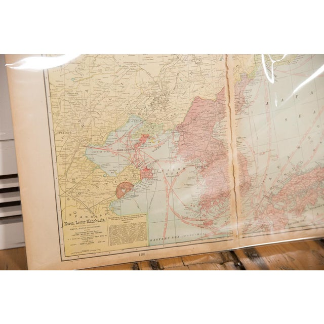 1900s Cram's 1907 Map of Korea For Sale - Image 5 of 8