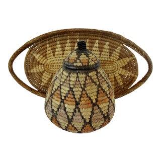 Woven Zulu Baskets, Set of 2 For Sale