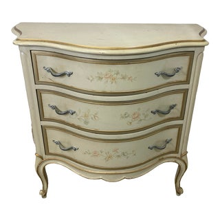 Vintage French Bombe Painted Commode For Sale