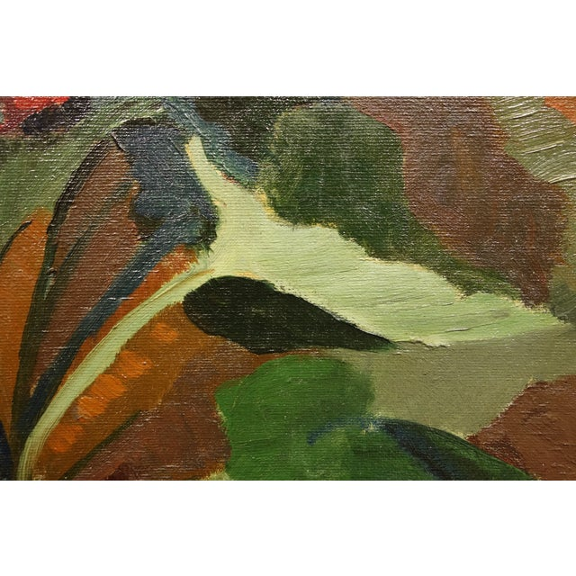 Circa 1940s Vintage American Modernist Still Life Painting - Image 6 of 7