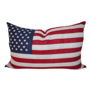 Vintage American Flag Pillow For Sale