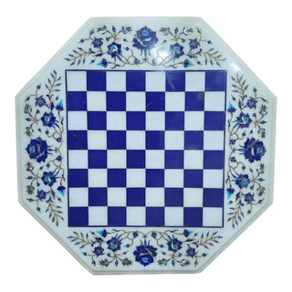 Traditional Marble Inlay Tabletop For Sale