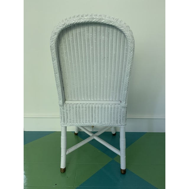 1940s Vintage Lloyd Loom English Wicker Chairs - a Pair For Sale - Image 5 of 8
