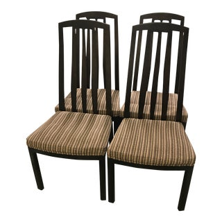 Late 20th Century Henredon Slat Back Dining Room Side Chairs- Set of 4 For Sale