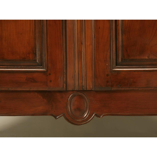 Circa 1800s French Louis XV Style Cherry Wood Armoire - Image 6 of 10