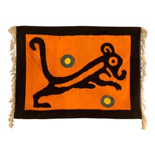 1960s South American Hand Loomed Woven Wool Tapestry For Sale