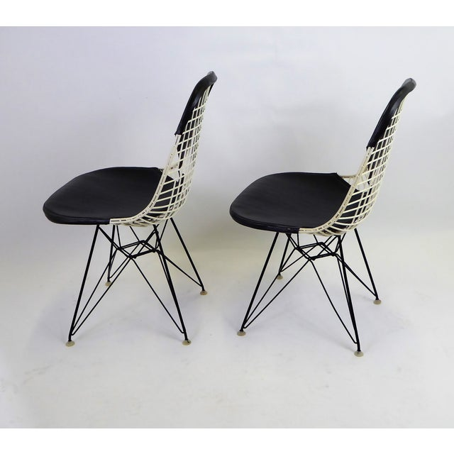 Charles and Ray Eames 1950s Eames for Herman Miller DKR Bikini Chairs With Eiffel Base - a Pair For Sale - Image 4 of 13