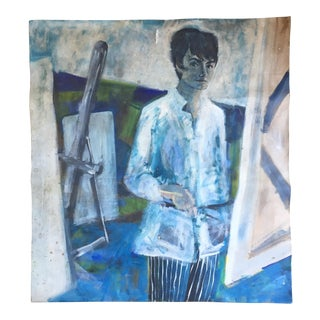 'Grey Lady' Self Portrait Painting