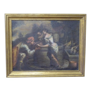 18th Century Flemish Giltwood Framed Oil on Canvas For Sale