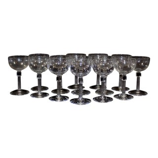 Crystal Wine Glasses - Set of 14