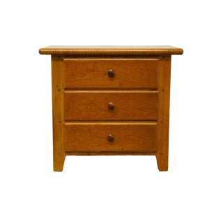 "Mid-Century Modern Thomasville Furniture Solitaire Collection 27"" Three Drawer Nightstand For Sale"