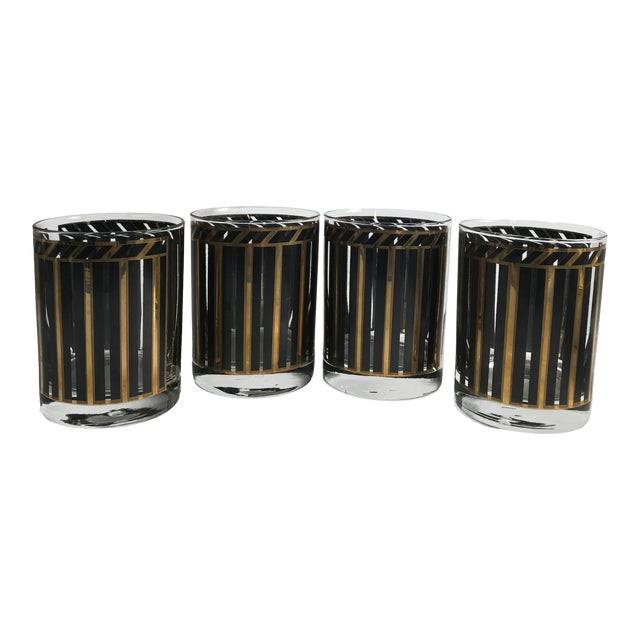 1950s Mid-Century Modern Georges Briard Rocks Glasses - Set of 4 For Sale
