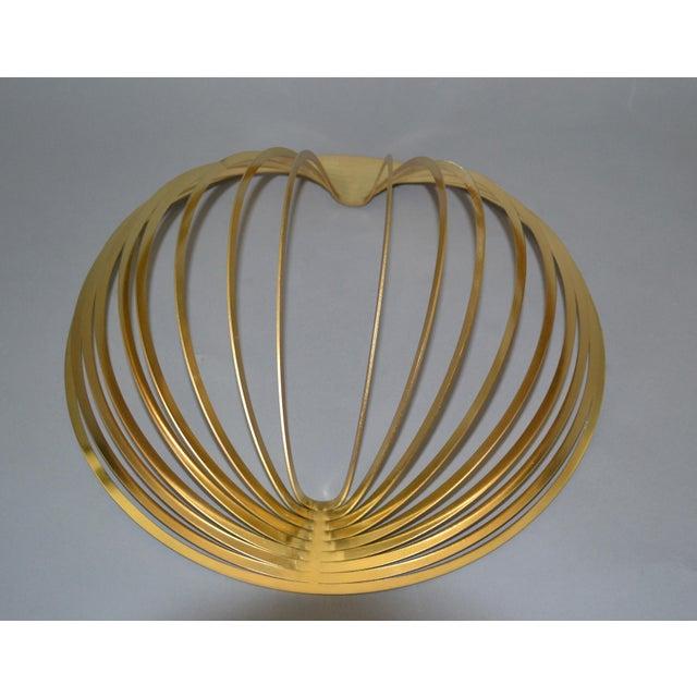 Modern Sculptural Golden Brass Rocking Bowl, Eight Mood, Sweden For Sale - Image 10 of 11