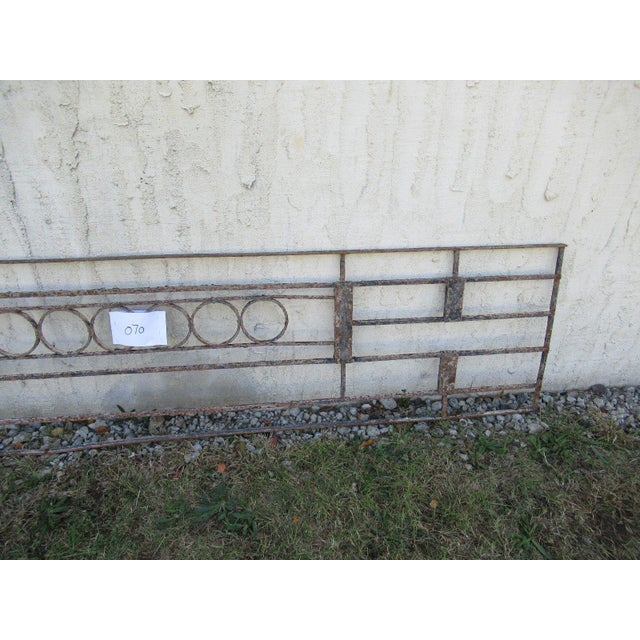 Antique Victorian Iron Gate Window Garden Fence Architectural Salvage Door #070 For Sale - Image 4 of 6