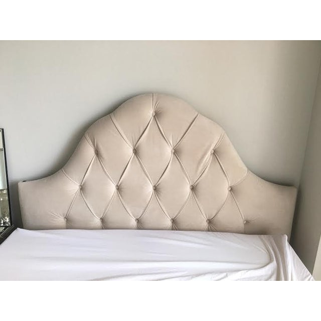 Queen Tufted Headboard in Wheat - Image 3 of 7