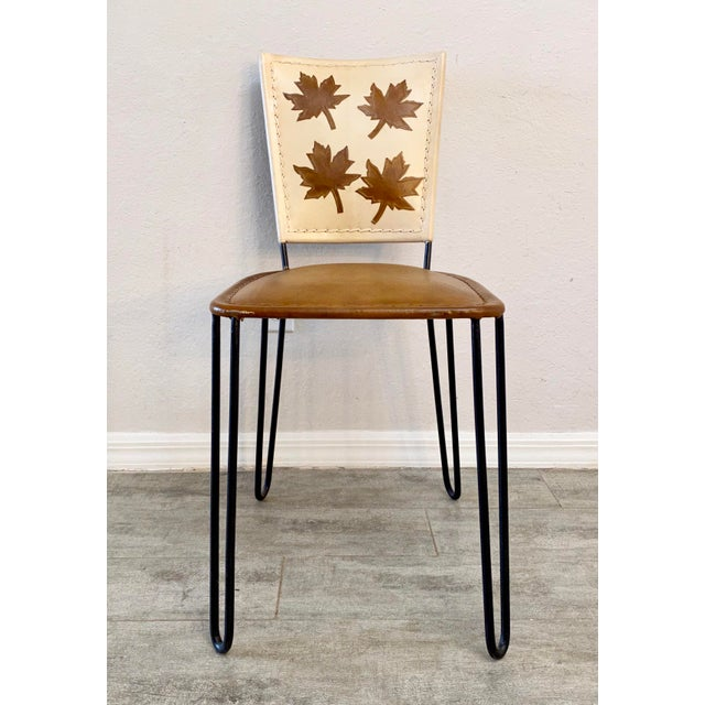 Mid-Century Modern Pair of Willow Dining Chairs For Sale - Image 3 of 8