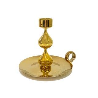 Hugo Asmussen Design Denmark 24k Gold Plated Candle Holder For Sale