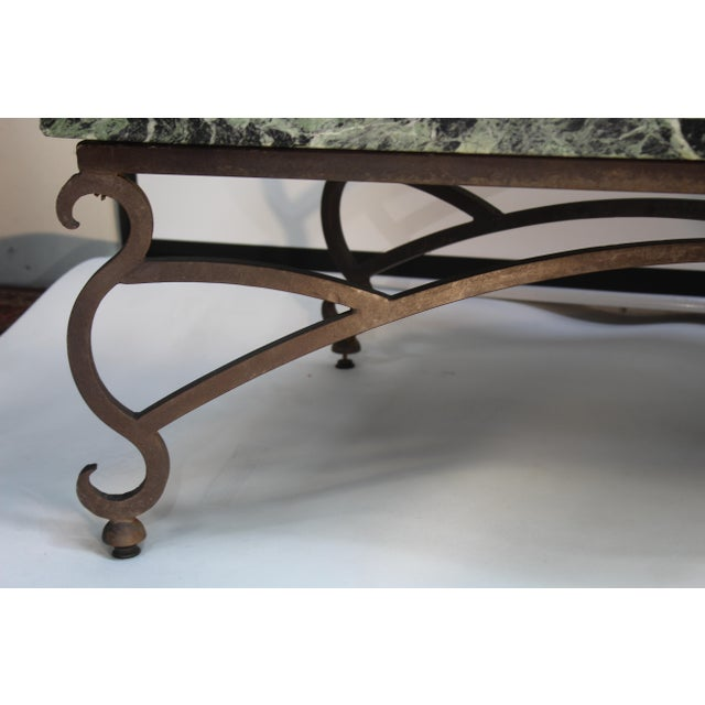 Metal Italian Marble Table For Sale - Image 7 of 10