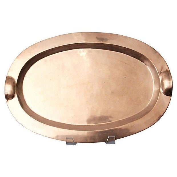 Copper & Brass Oval Tray - Image 2 of 3