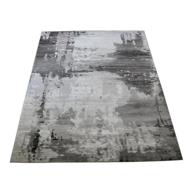 """Modern Gray Abstract Rug - 6'7""""x 9'7"""" - Image 1 of 4"""